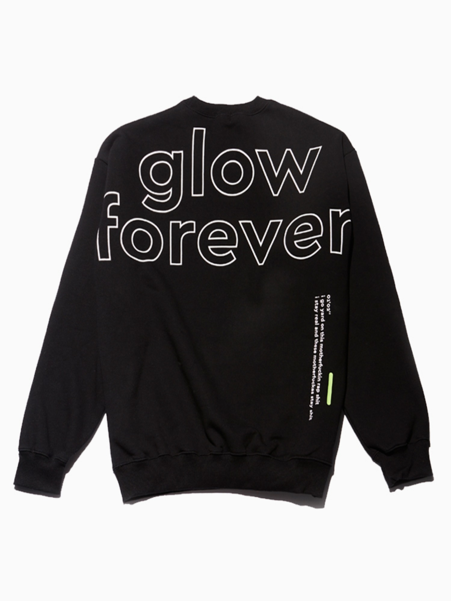 (소량 입고) The Quiett [glow forever] - Crew neck Shirts Black (3rd pre-oreder)