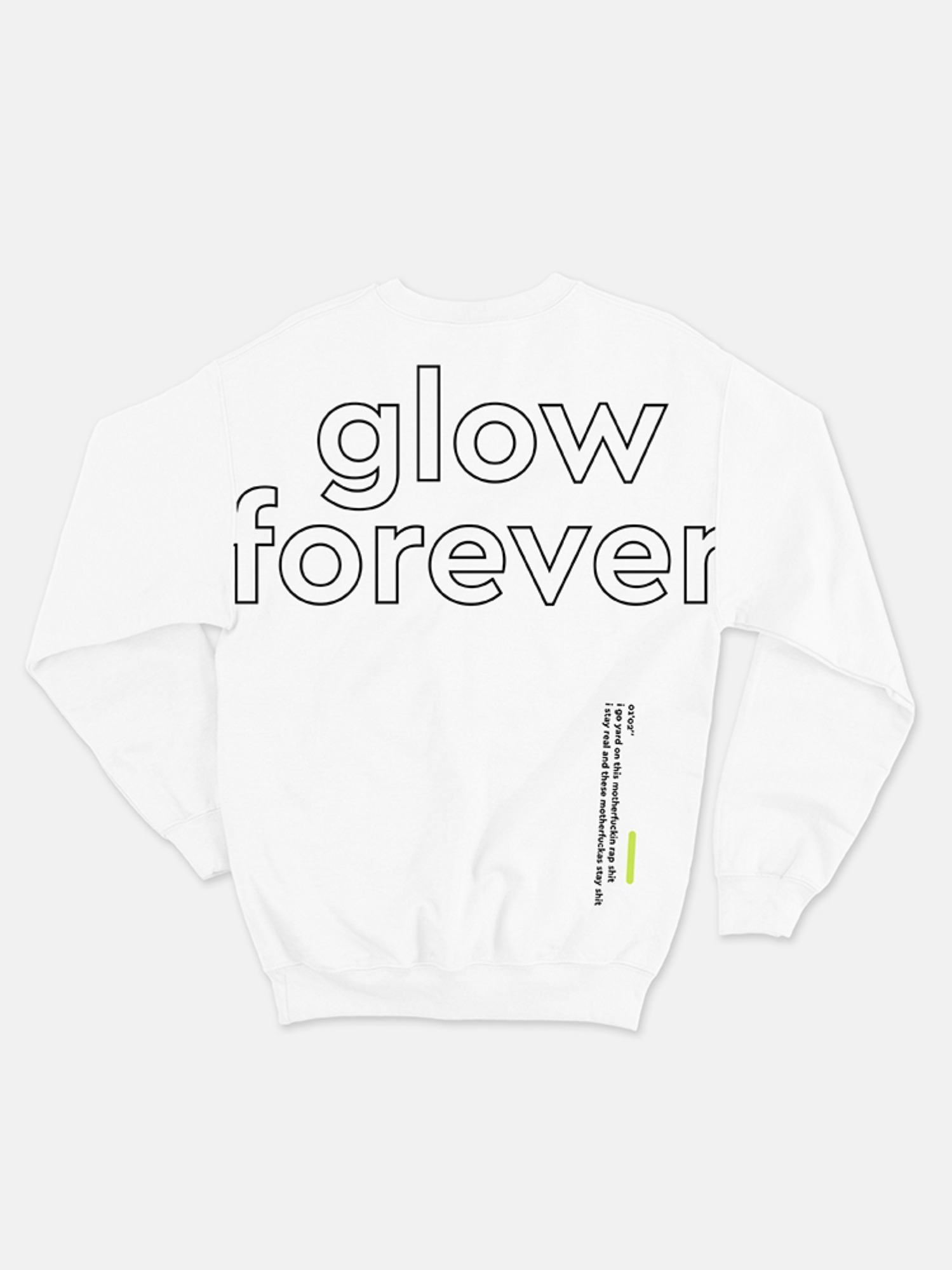 (소량 입고) The Quiett [glow forever] - Crew neck Shirts Off White (3rd pre-oreder)