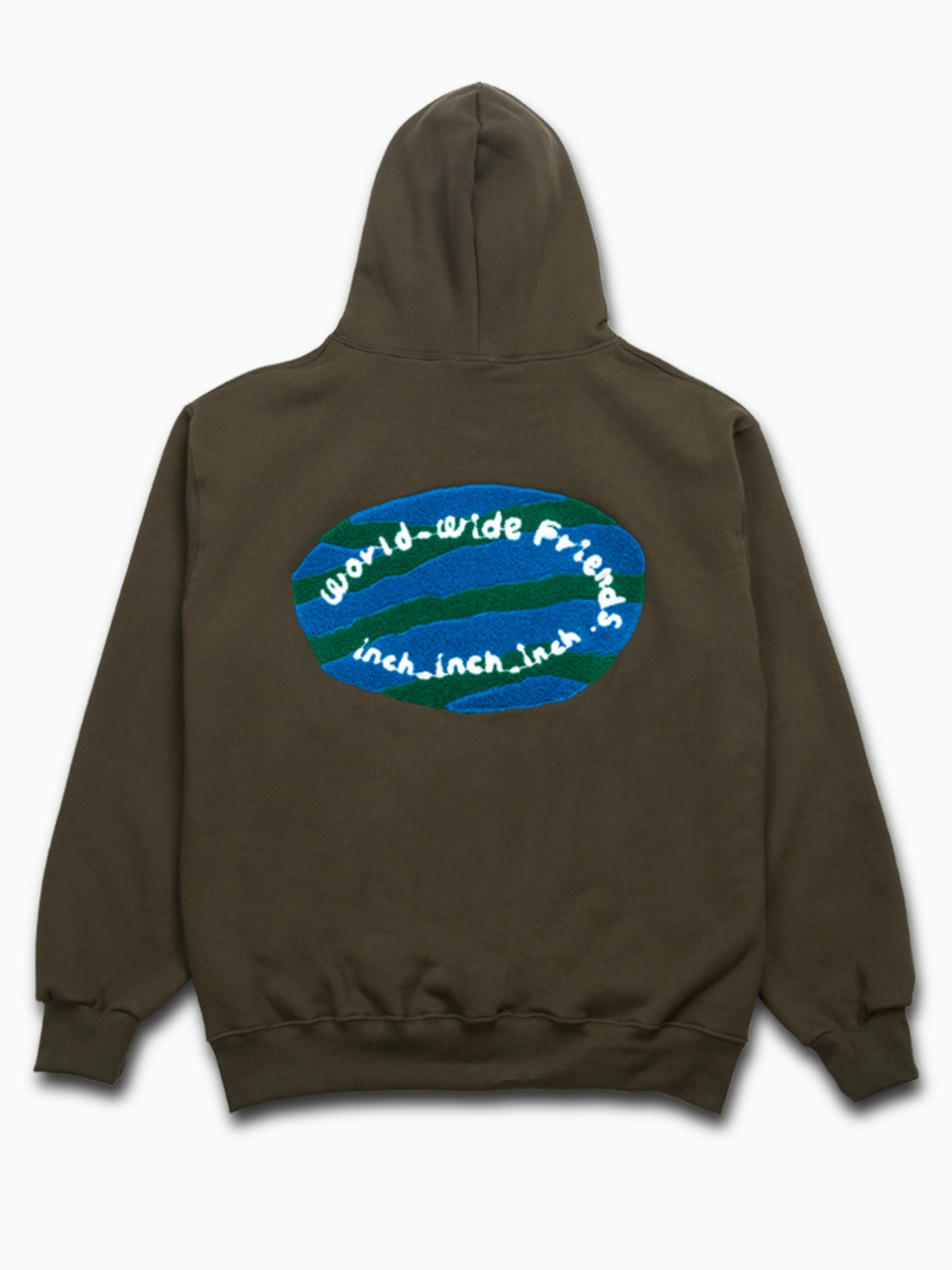 3차 소량입고 [Khaki] world_wide_friends_hoodie