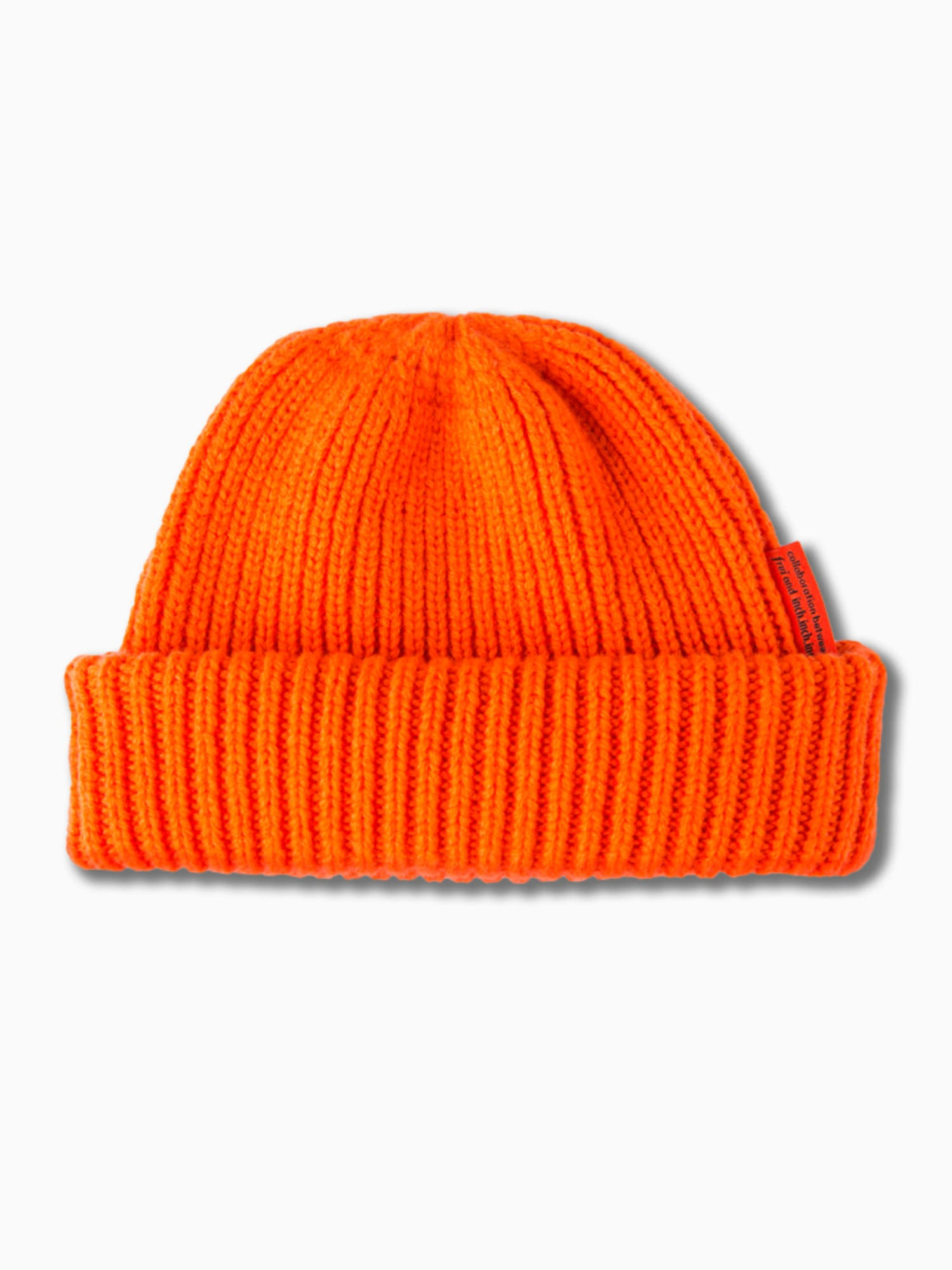 [inch_inch_beanie] Lambs-wool / Orange