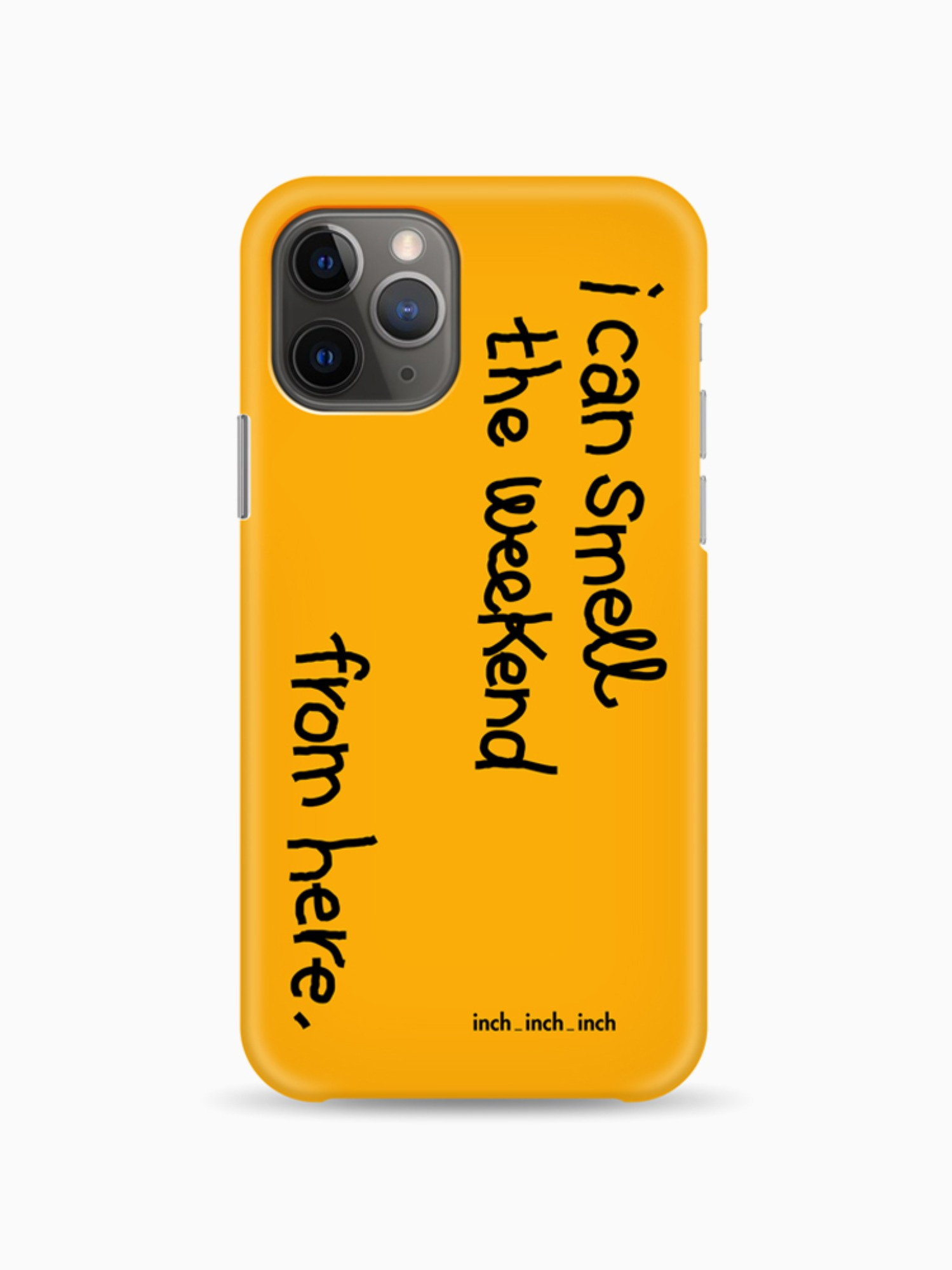 [iphone 12 입고] Weekend Smell Phone Case (mustard)