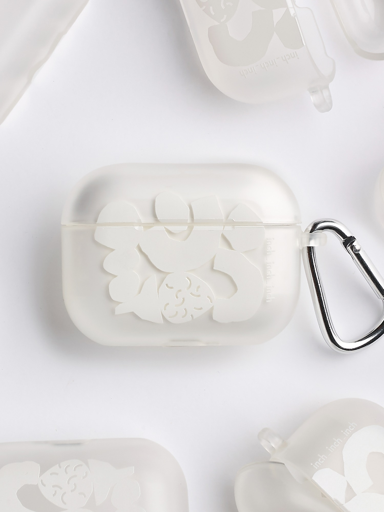 White Blocks Airpods Pro Case (반투명)