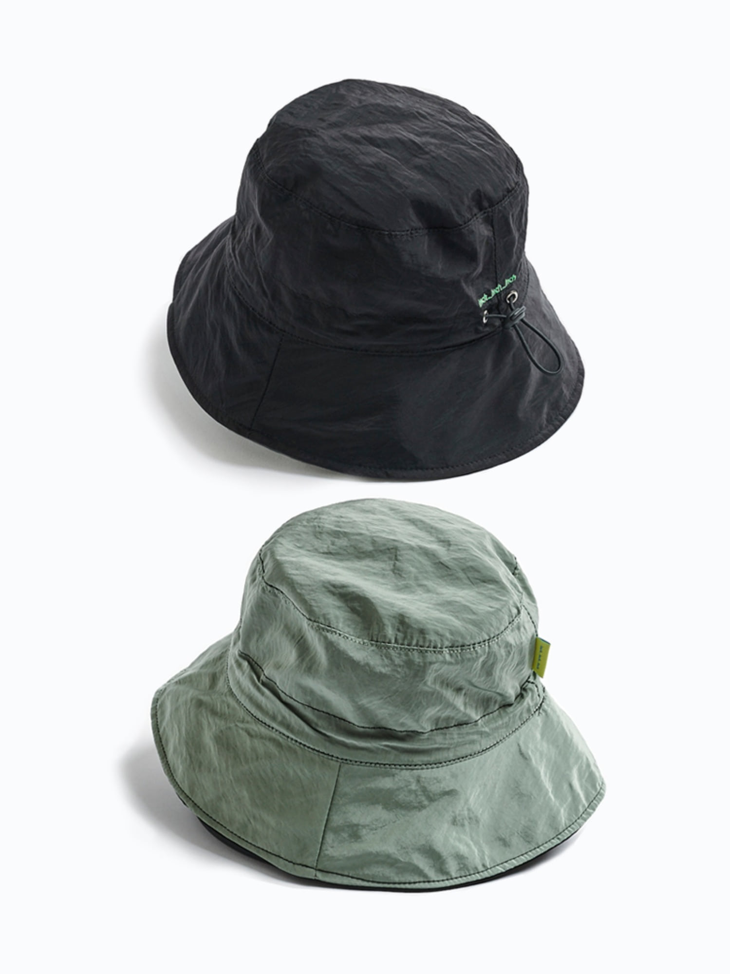 [3차] 2 Tone Bucket Hat (Black & Sage)