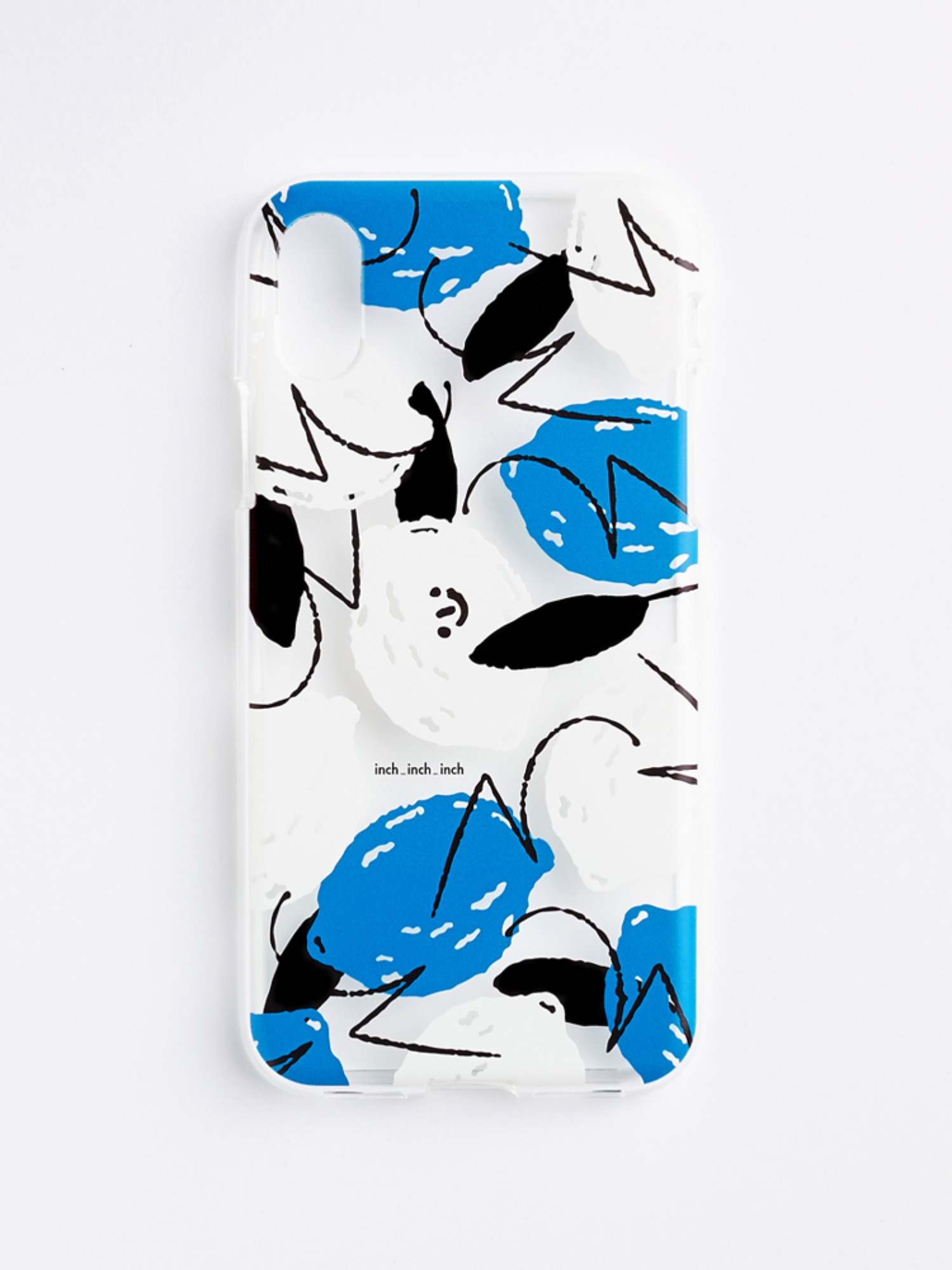 Lemon Clear Phone Case (blue)