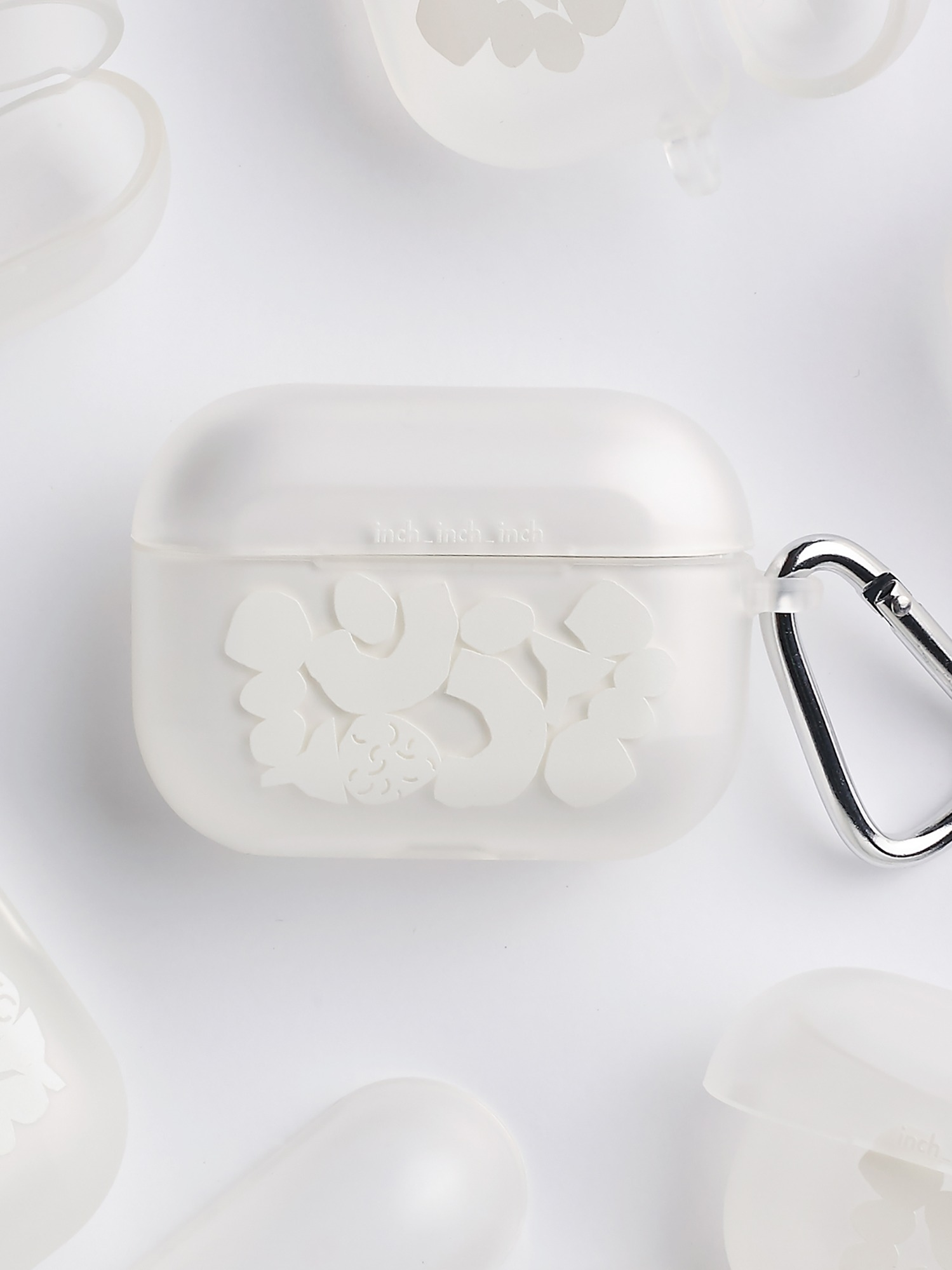 [30 Limited] White Blocks Airpods Pro Case (반투명) (키링 포함)