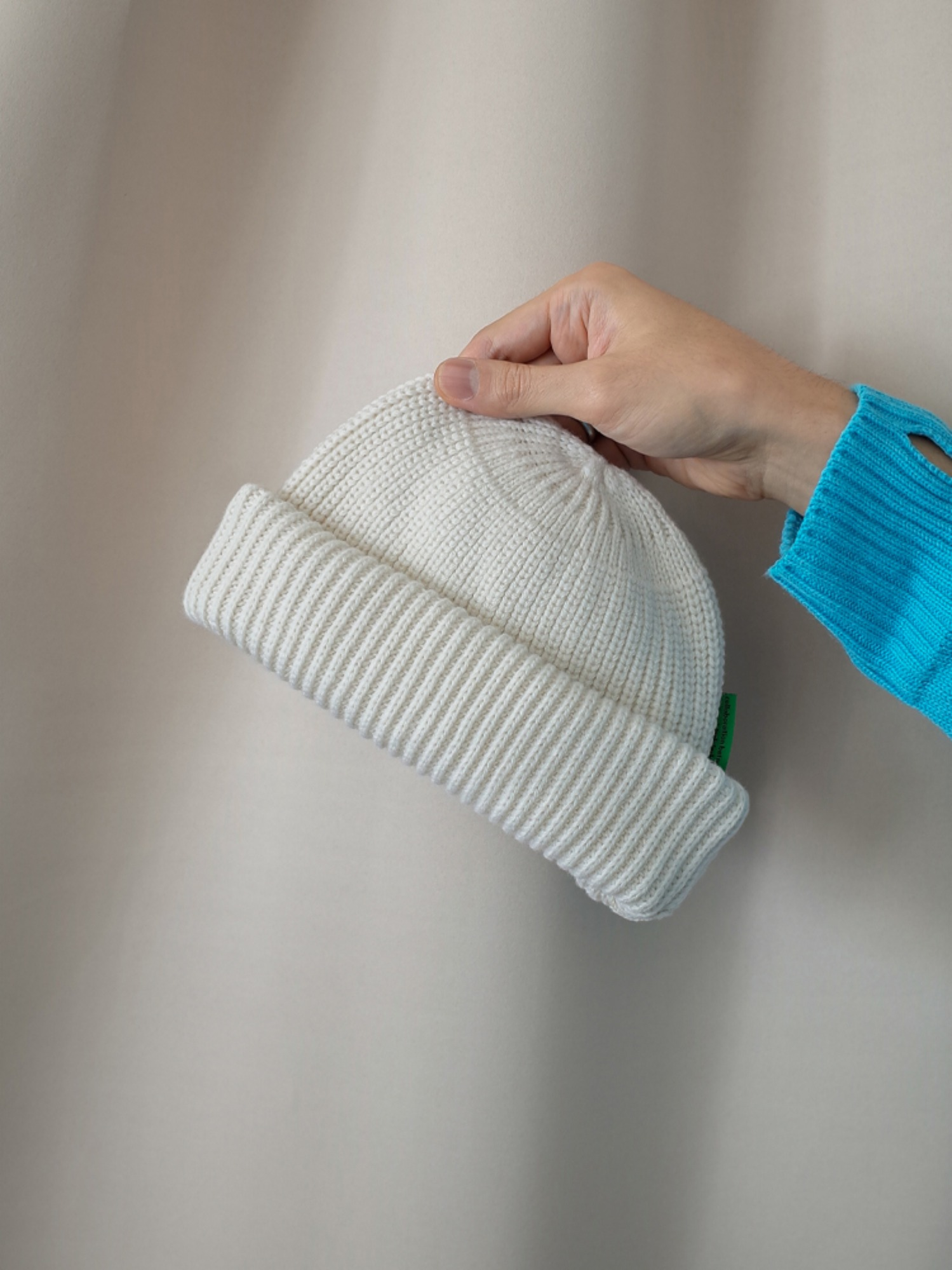 [inch_inch_beanie] Lambs-wool / Off White