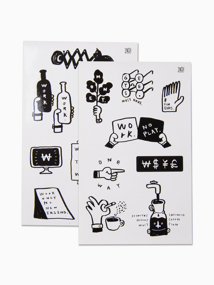 Work only Sticker Set
