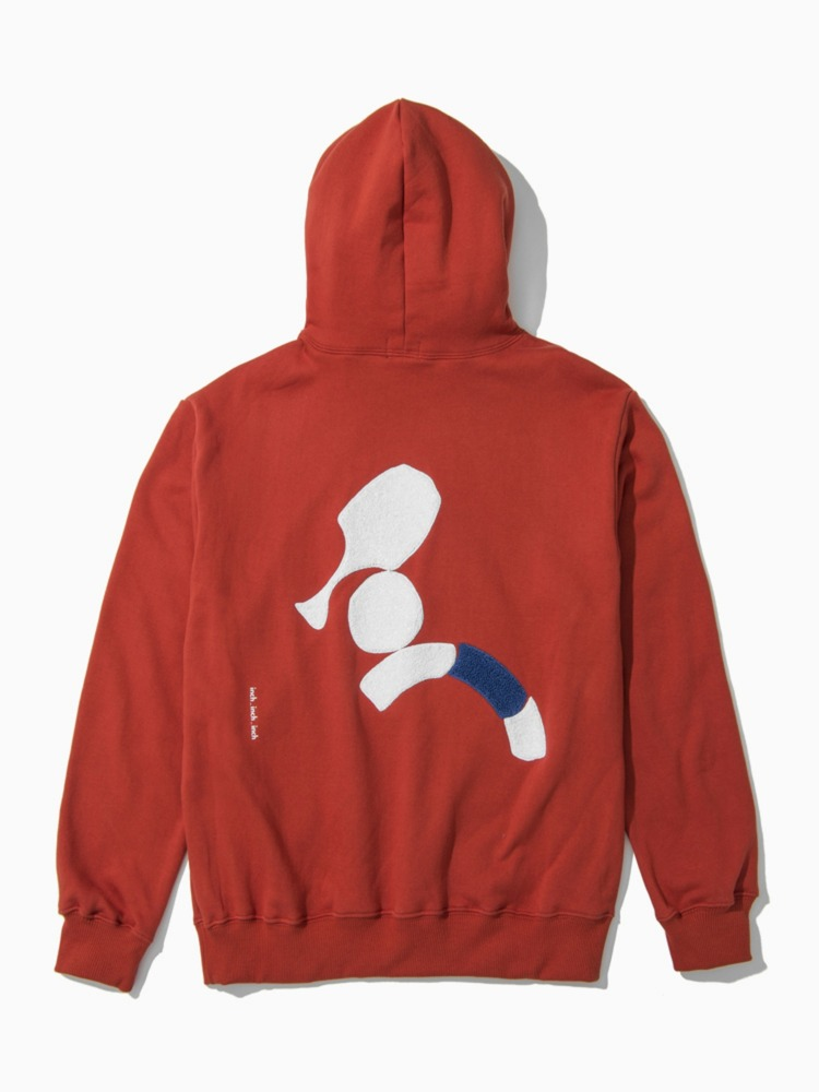 inch_inch_hoodie - Tone Down Orange