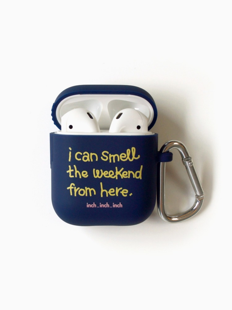 Weekend Smell AirPods Case (navy)