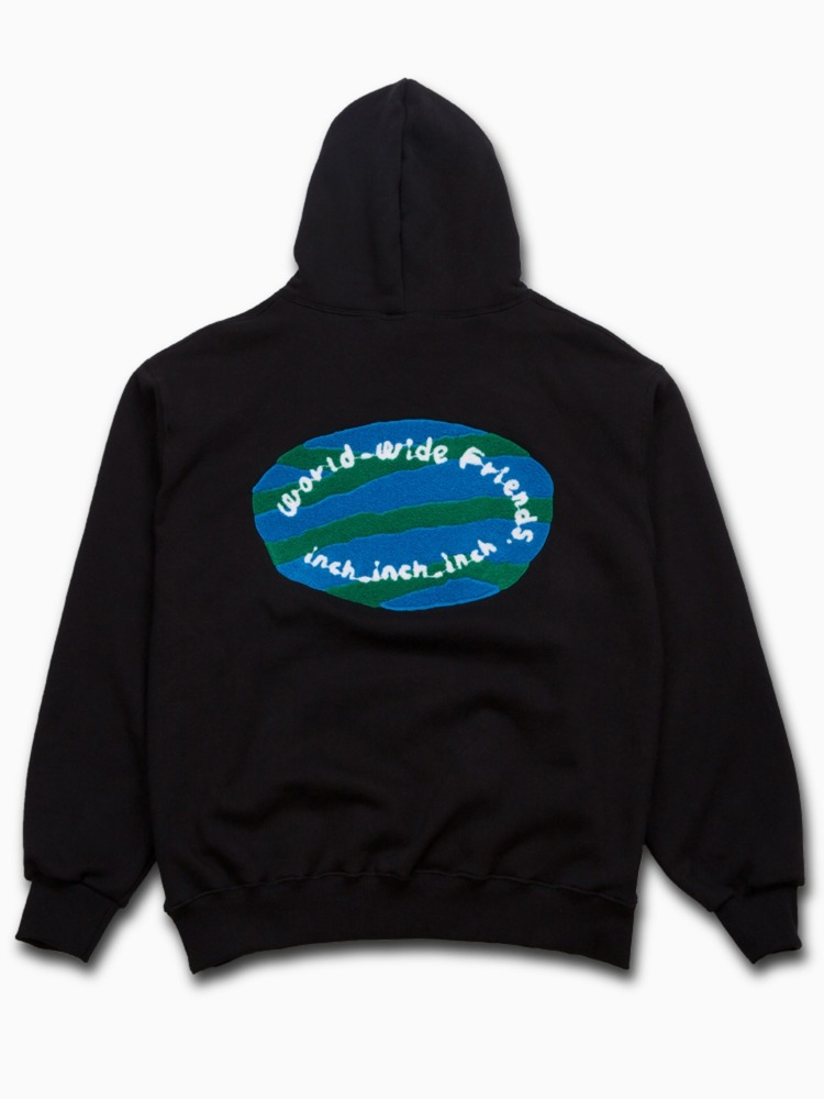[Black] world_wide_friends_hoodie + Key ring