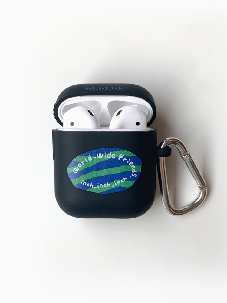 world_wide_friends AirPods Case (black)(키링 포함)