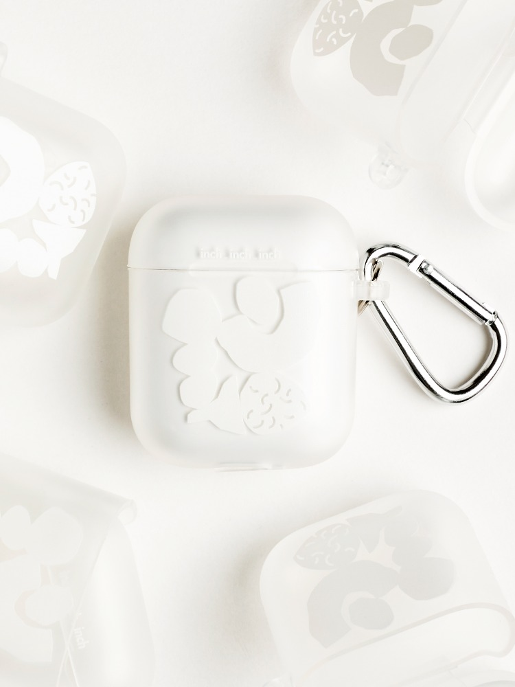 [4차 재입고] White Blocks AirPods 1,2 Case (blur : 반투명)