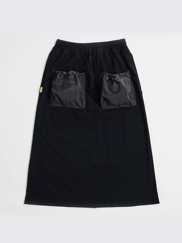 [Open SALE] 2 Pockets Skirt (Black & Charcoal)
