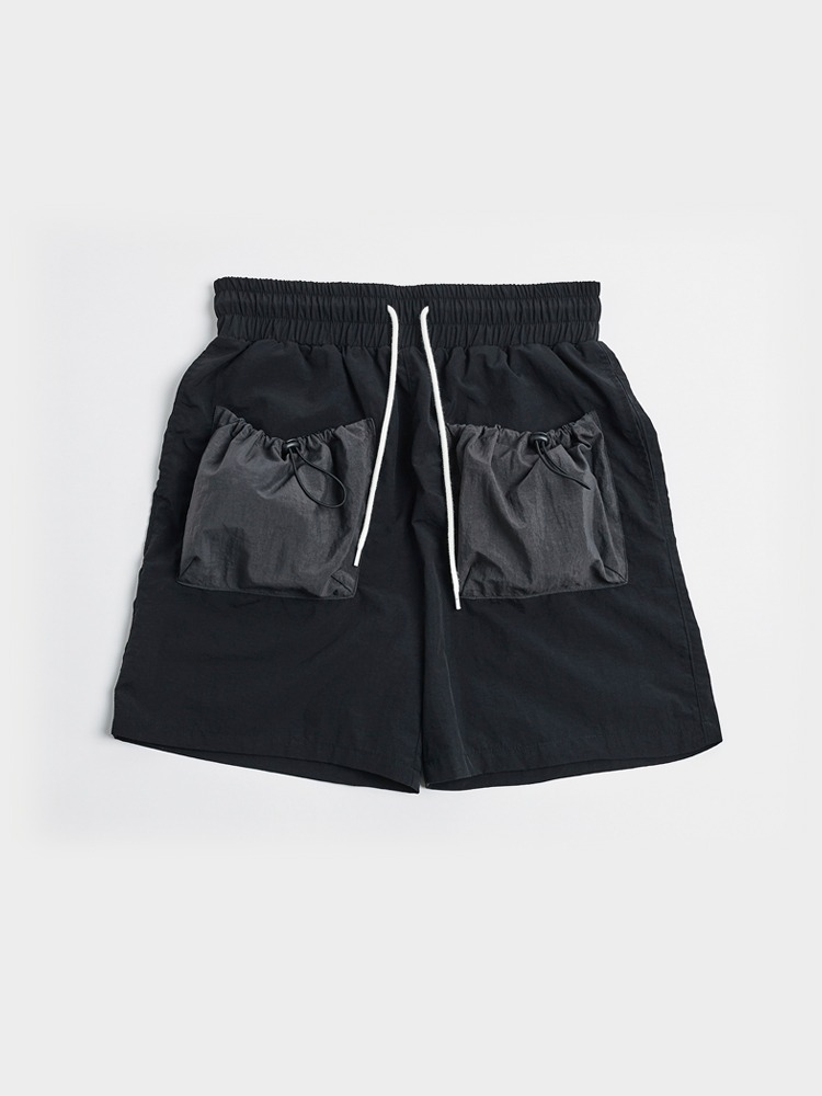 [Open SALE] 2 Pockets Shorts (Black & Charcoal)