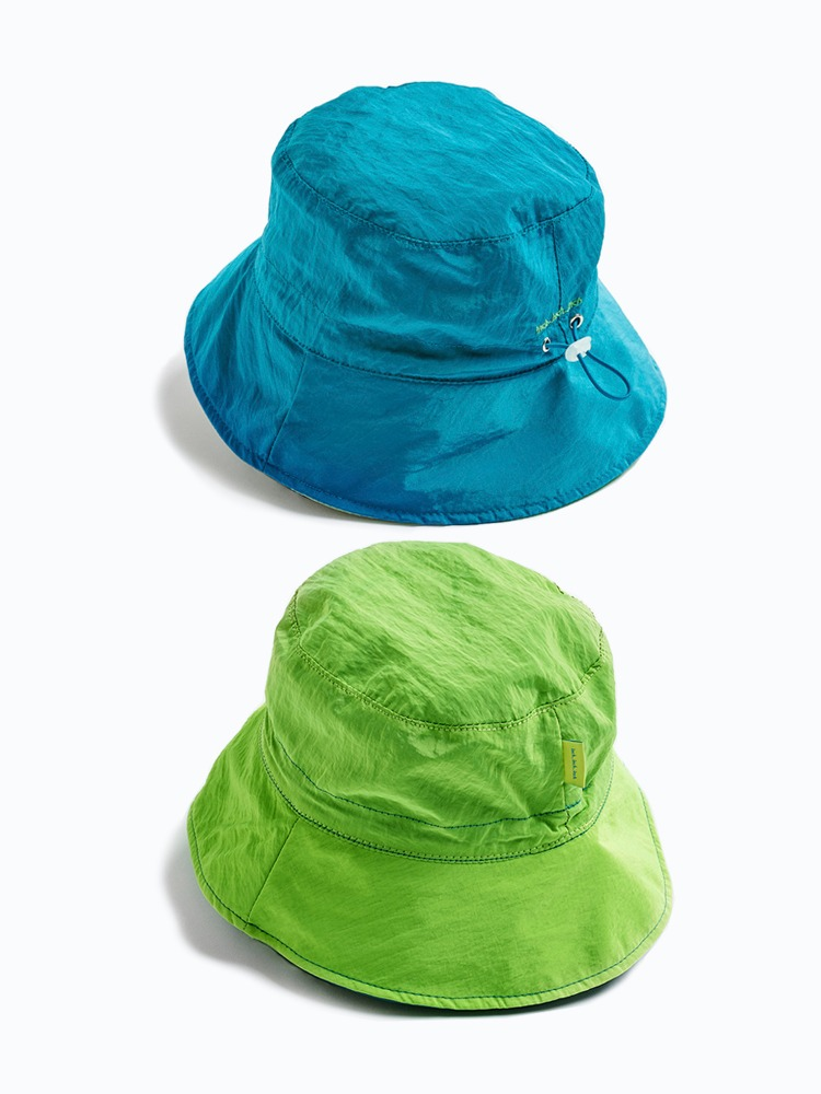 2 Tone Bucket Hat (Blue & Lime)