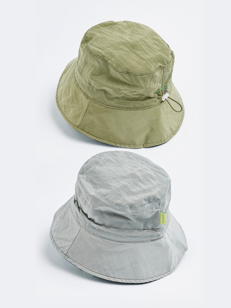 2 Tone Bucket Hat (Beige & Silver Gray)
